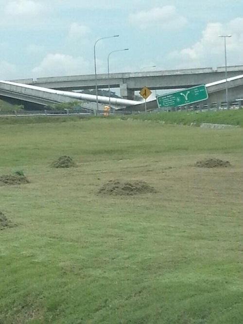 Gambar: jambatan Runtuh di Putrajaya / Cyberjaya 11