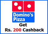 Foodpanda: Get Rs. 200 voucher on Dominos Order of Rs. 300