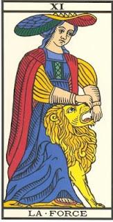 Arcano 11: A Força, carta do tarô, tarot, baralho de marselha