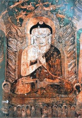 Buddha Mural Painting
