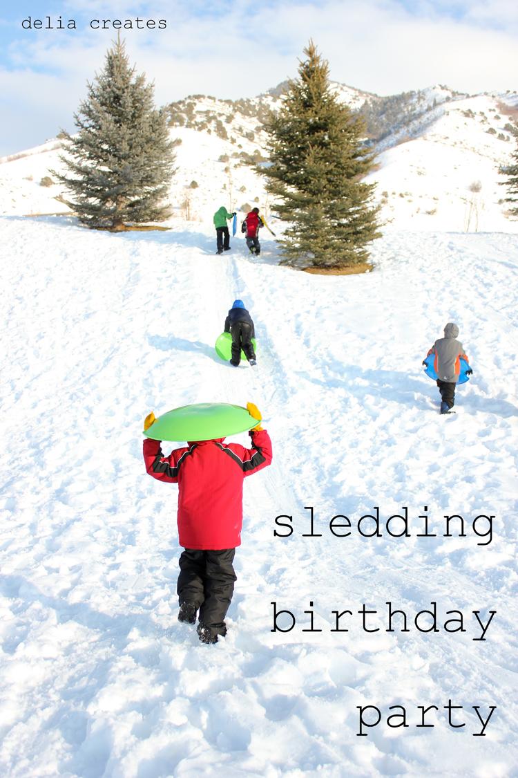 Sledding Birthday Party