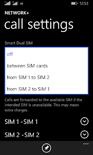 Lumia 530 selecting Smart Dual SIM option