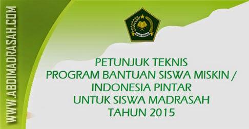 Juknis BSM/Program Indonesia Pintar Tahun 2015