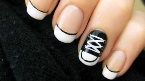 Nail Art Design 2014 Simple Nail Art Black And White Colour
