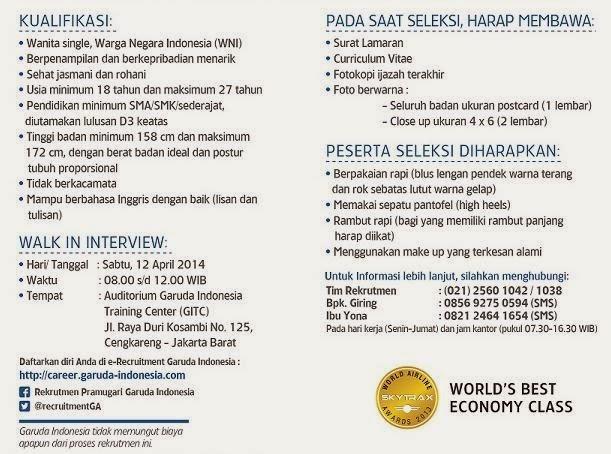 lowongan-kerja-pramugari-garuda-indonesia-jakarta-2014