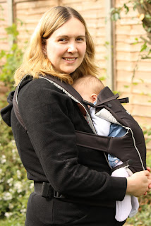Baby Holly in the Britax Baby Carrier