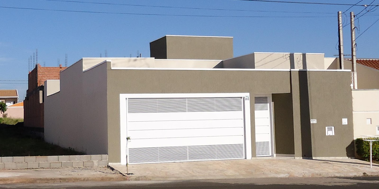 Um lar um sonho e um desafio a fachada - Fachada de casa ...