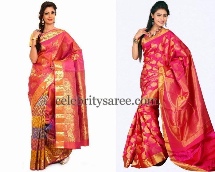 Very Thin Kanchi Silk Sarees