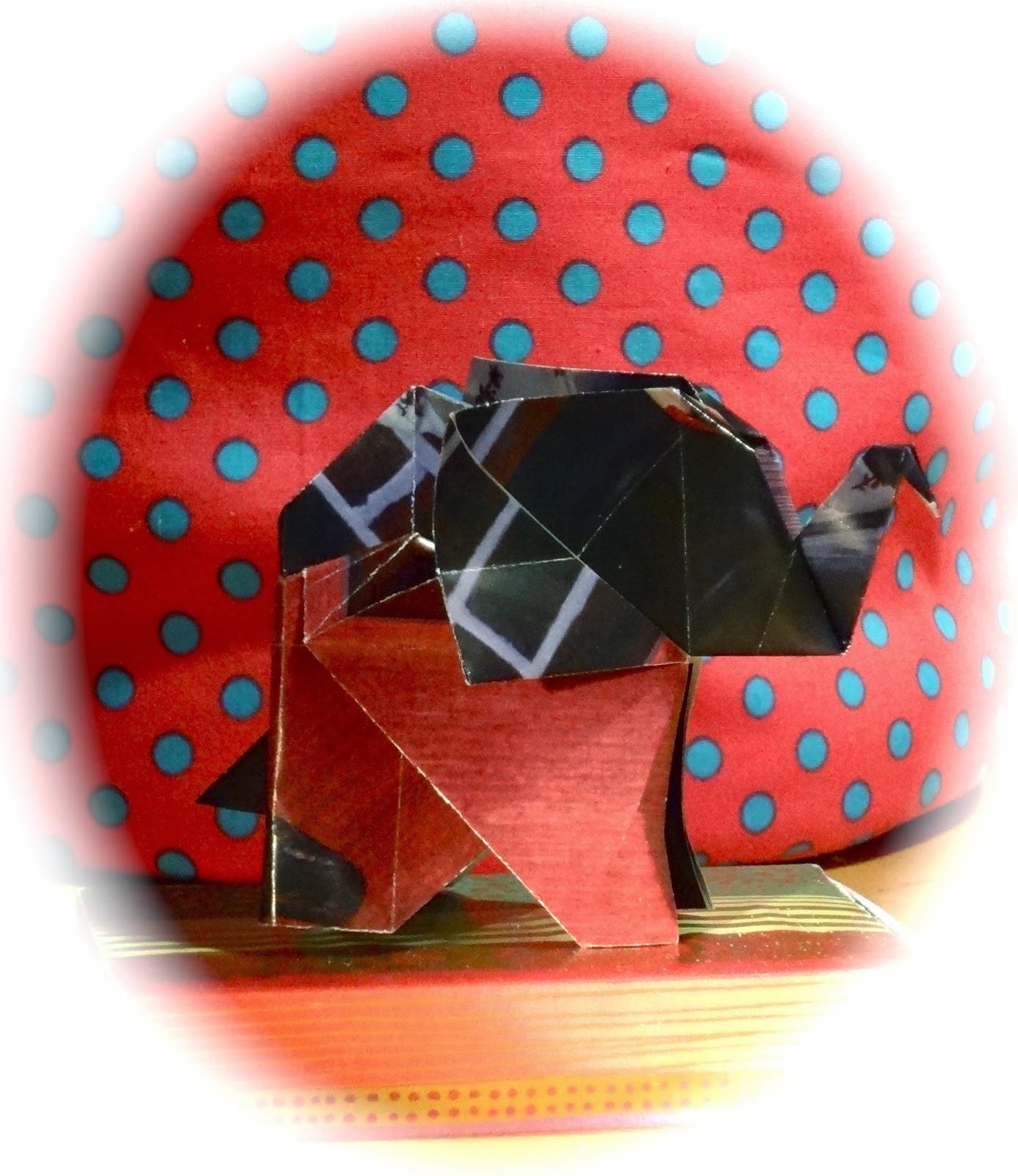 oha origami elefant falten. Black Bedroom Furniture Sets. Home Design Ideas