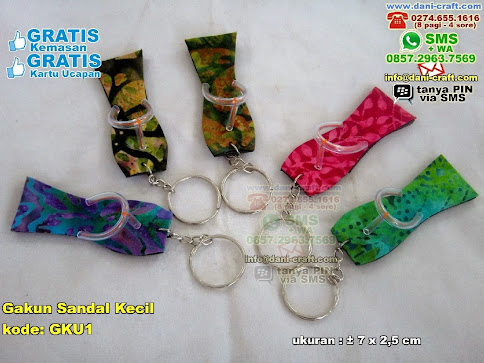 Gakun Sandal Kecil Spon Kain Batik