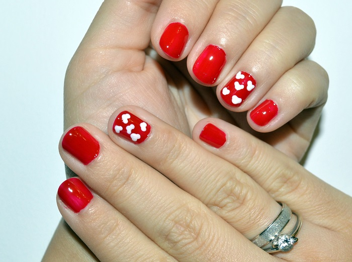 beauty, #beauty, #nails, nails, diy nails, nail art, nail design, red nails, natural nails