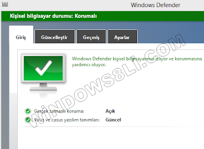 Windows Defender Korumalı