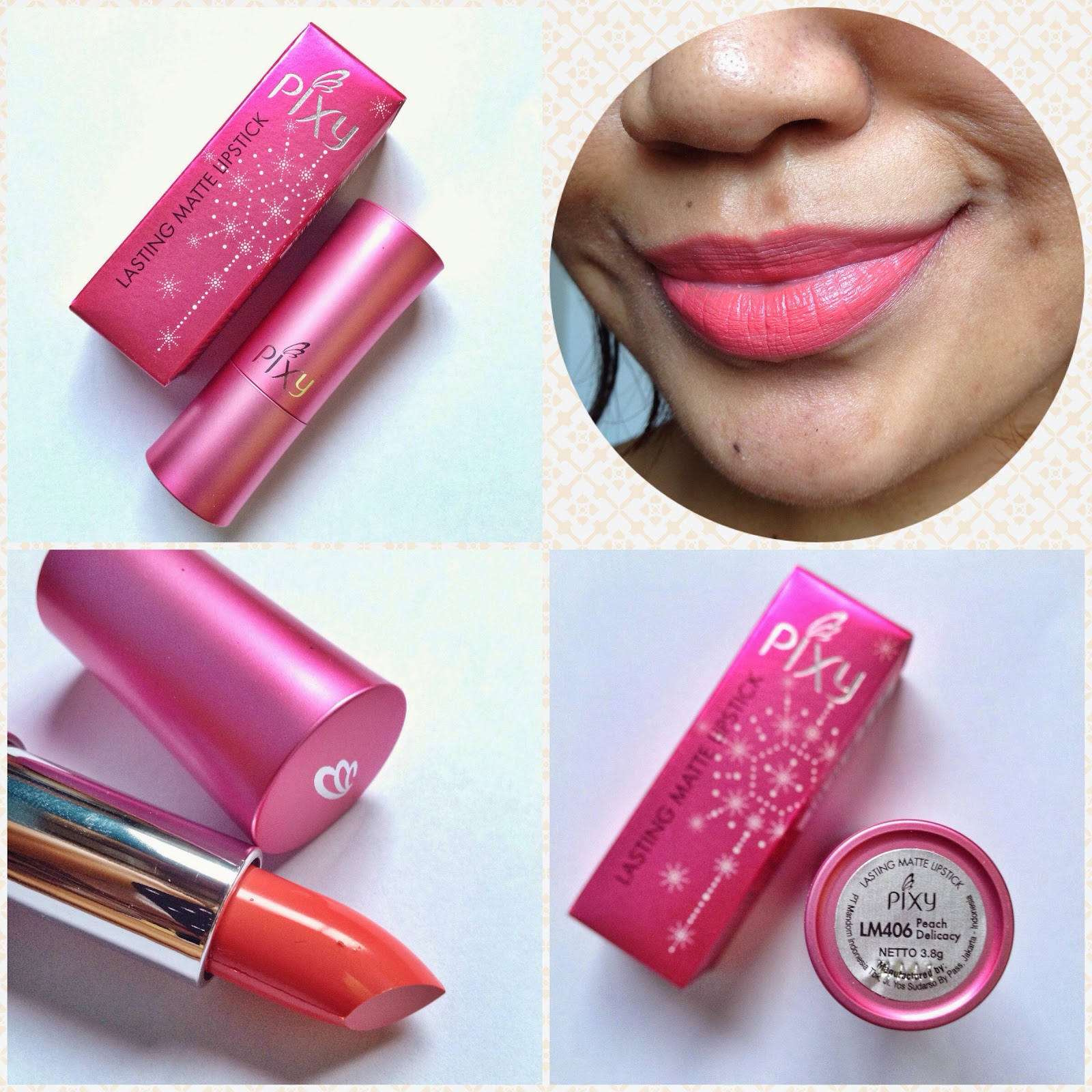 Quick And Easy With Pixy I Am Krissy Matte Lipstik Lasting Lipstick In Peach Delicacy