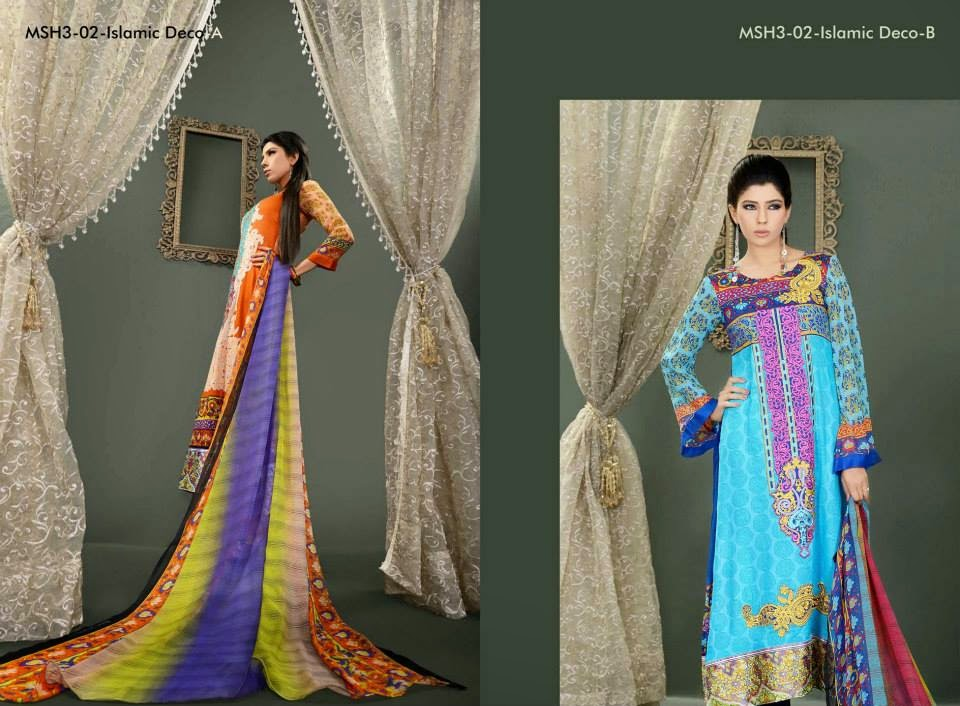 MashaalEmbroideredCollection2014VOL 03ByLalaTextile 4  - Mashaal Embroidered Collection 2014 VOL-3