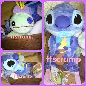 JAPAN DS BIG PLUSH STYLE BEDTIME STITCH + SCRUMP