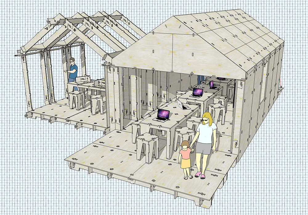 Retired sketchup blog fabbing with friends a wikihouse for Sketchup building design