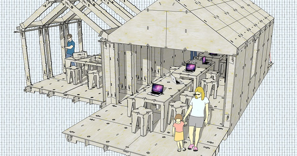 Fabbing with friends: a WikiHouse for World Maker Faire