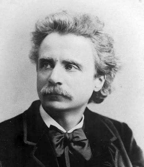 Retrato fotográfico de edvard grieg en 1888 por elliott fry
