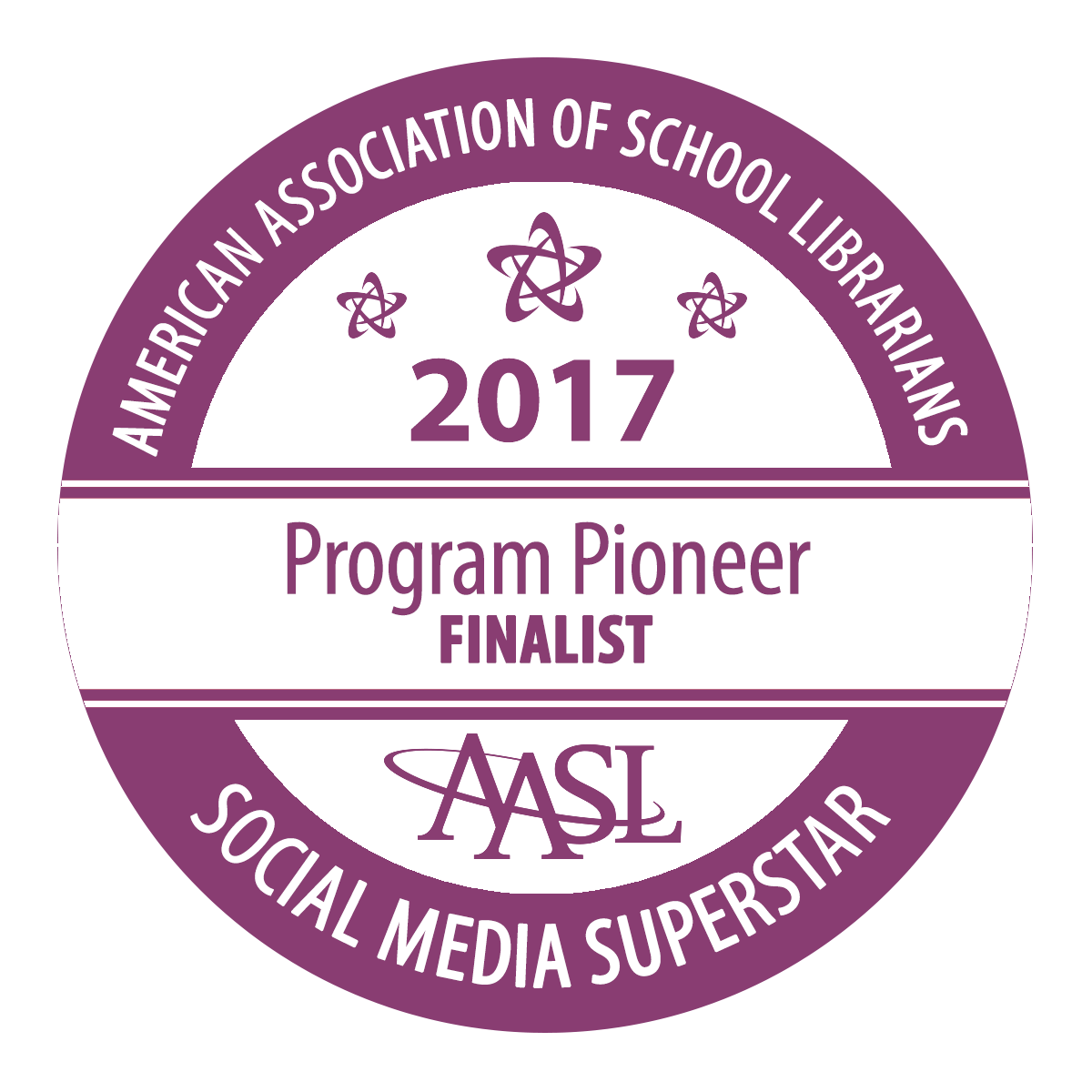 AASL Social Media Superstar Finalist and Recipient