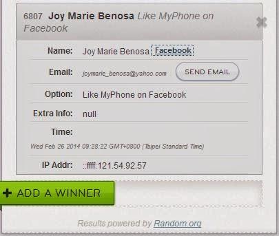 TeknoGadyet Giveaway: MyPhone Fuego Ignite Winner