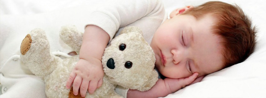 Baby Sleeping With Taddy Bear