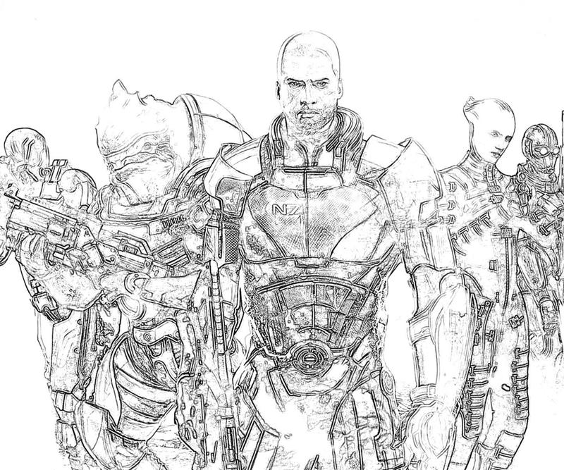 mass effect 3 coloring pages - photo#2