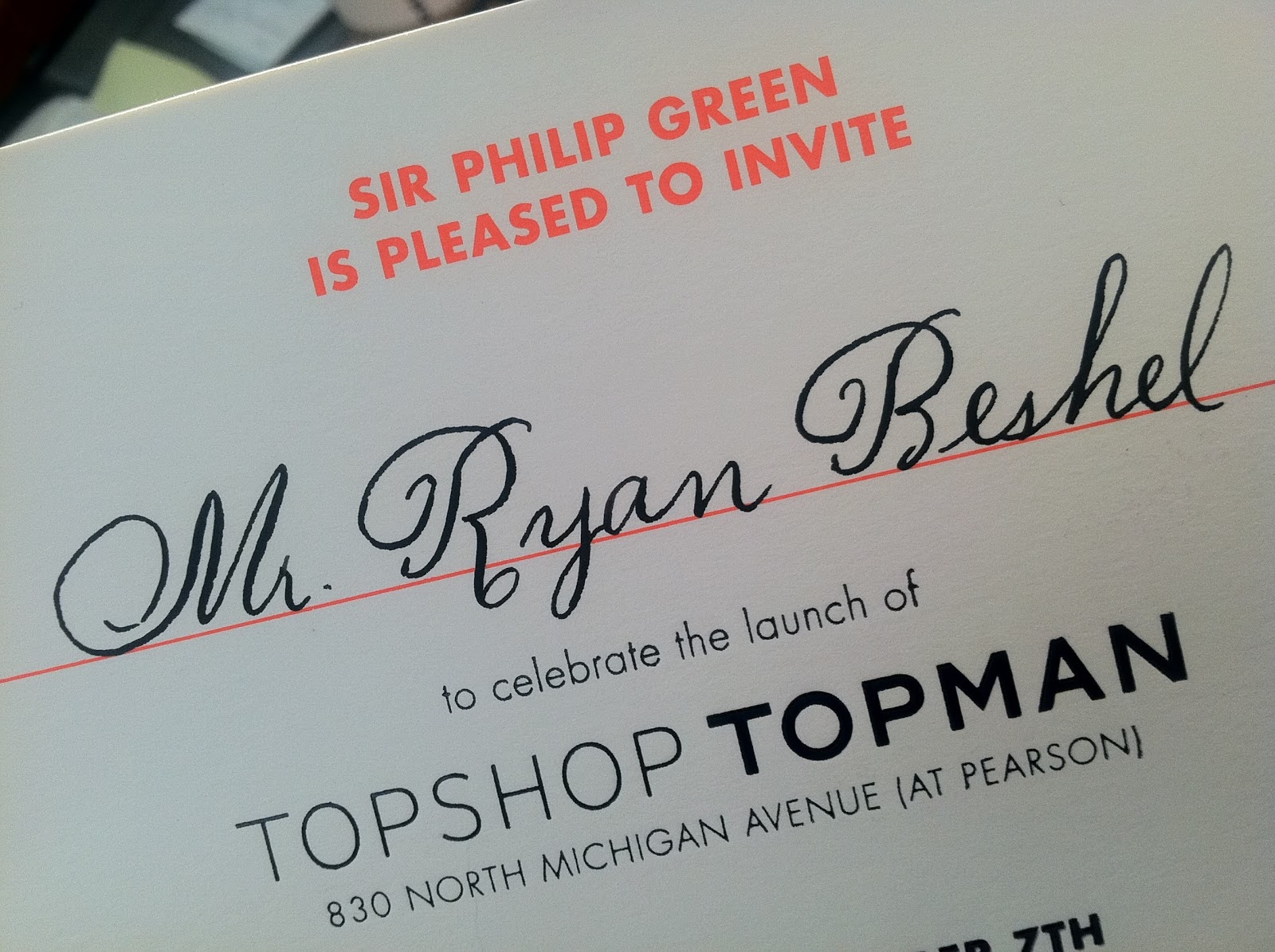 The bowtie memoirs a night in paris to welcome london the topshop topman private dinner - Topman head office number ...
