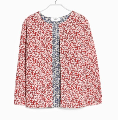 Mango Floral Reversible Jacket