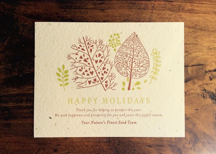 Artistic Green Holiday Card
