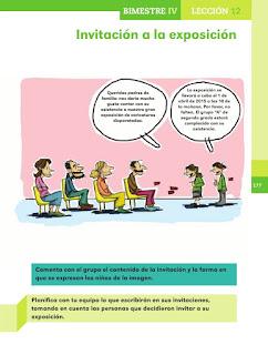 Apoyo Primaria Español 2do grado Bloque 4 lección 12 Invitación a la exposición
