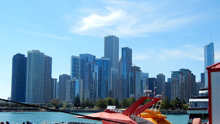 View of downtown from the Navy Pier in Chicago, Illinois