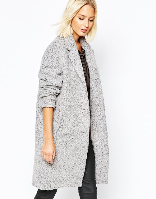 selected lifa coat, grey fleck coat,