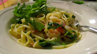 Lemon Shrimp Arugula Linguine