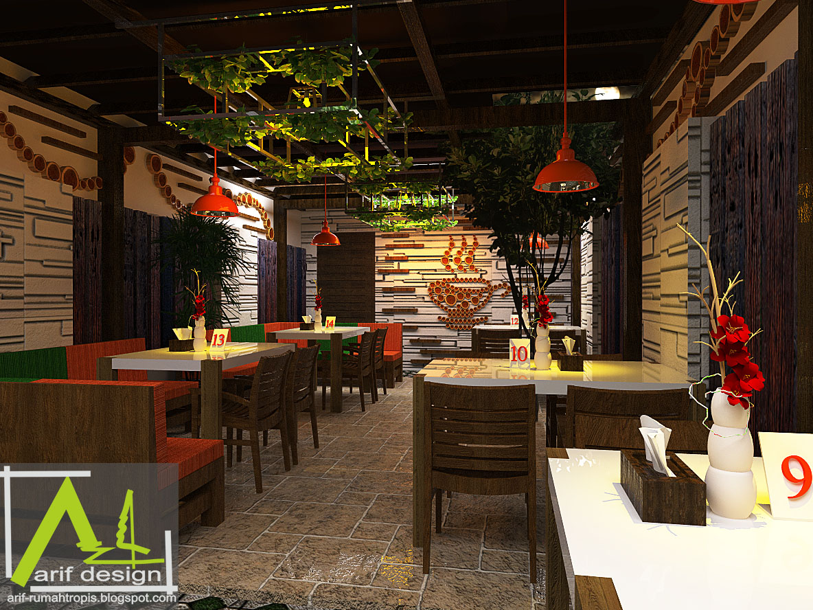 DESAIN CAFE TROPIS OUTDOOR / GARDEN CAFE