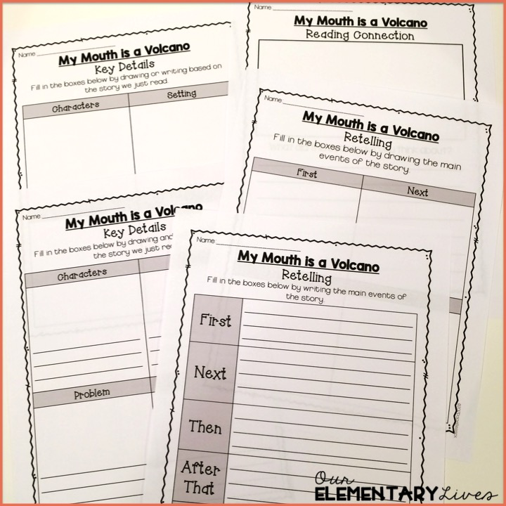 Interactive Read Aloud My Mouth Is A Volcano Our Elementary Lives