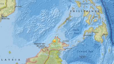 Un terremoto de magnitud 6.0 en la escala abierta de Richter sacudió la región nororiental de Malasia, en la isla de Borneo