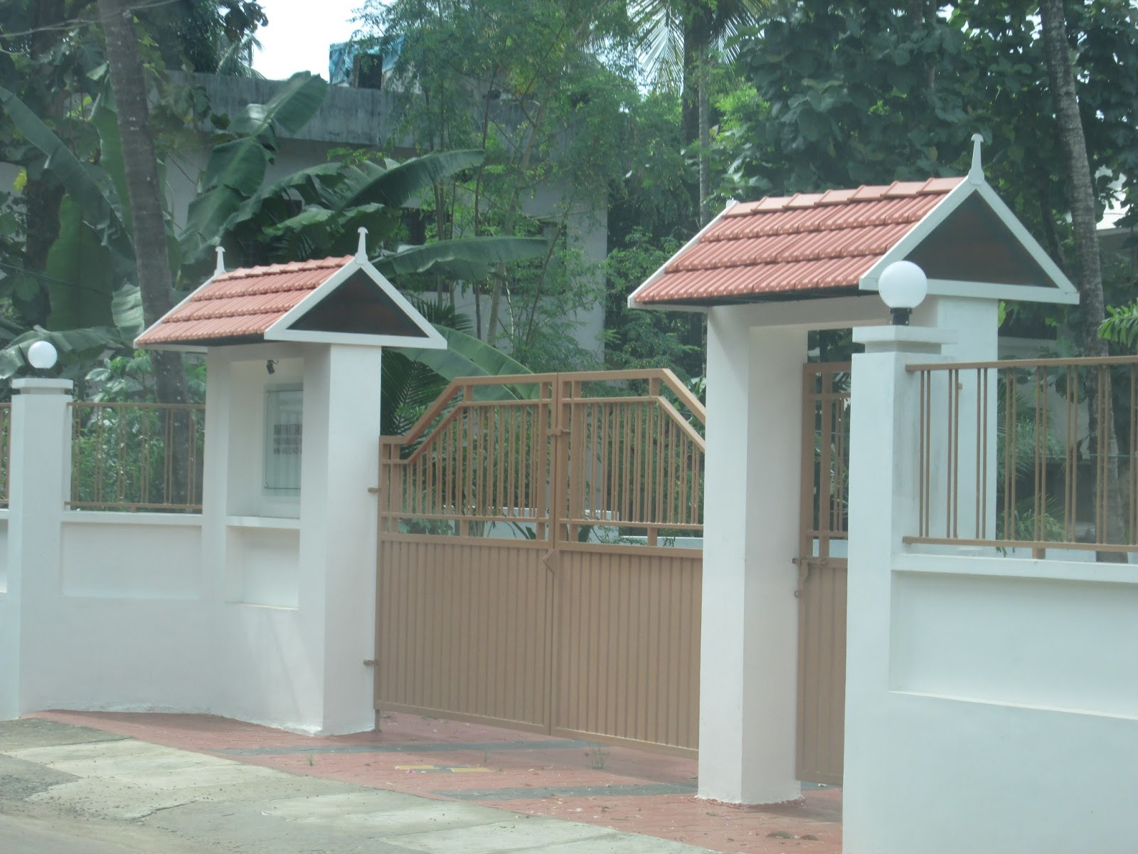Padippura design images shape kerala home - Gate With Kerala Style Twin Padippura Kerala Gate Designs