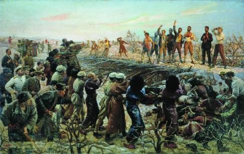 Расстрел 26 бакинских комиссаров, худ. Бродский