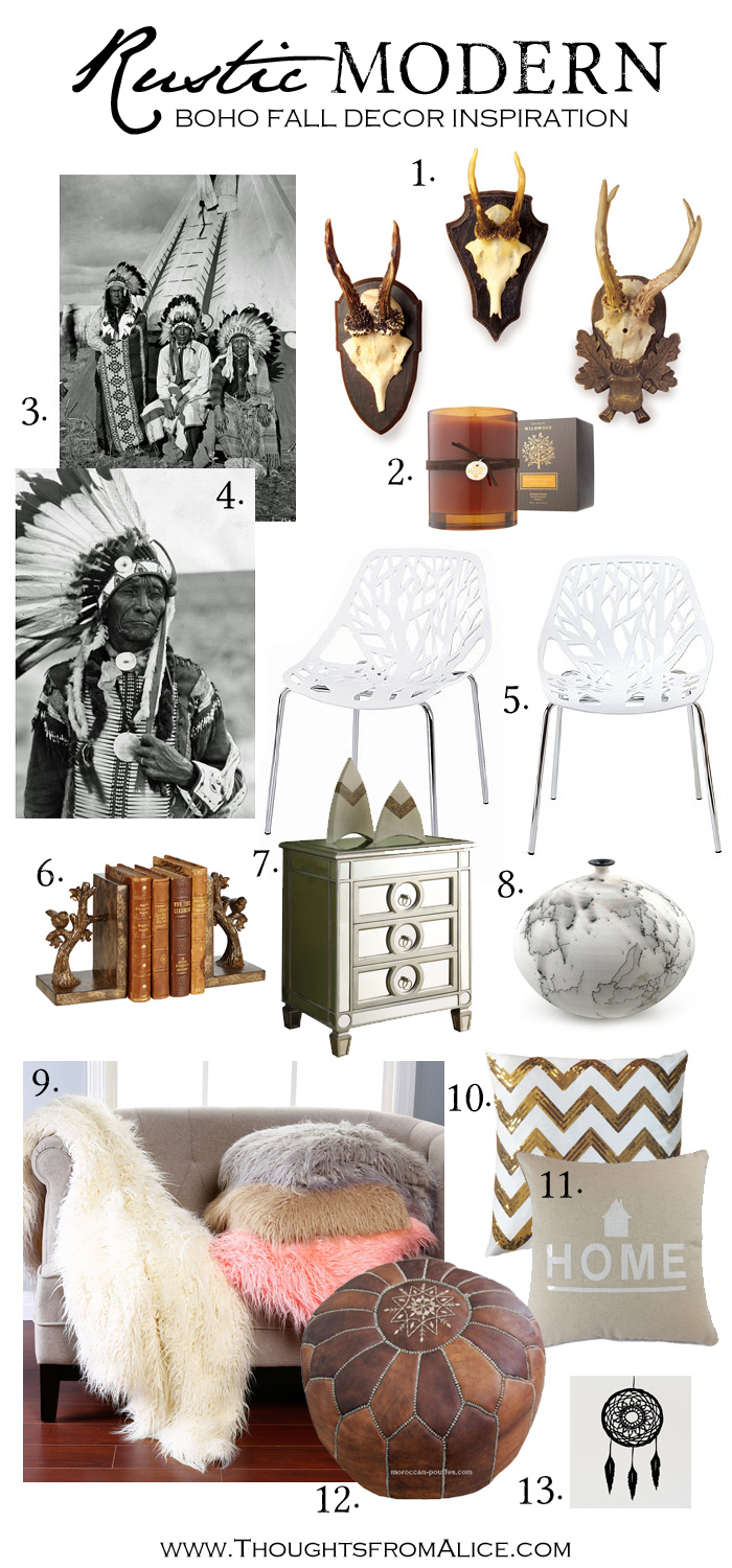 Rustic Modern Boho Fall Decor Inspiration