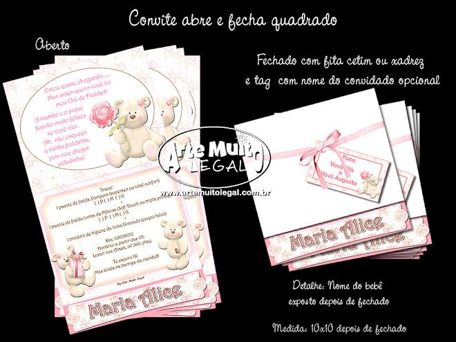 Convites e lembranças especiais - Arte muito legal