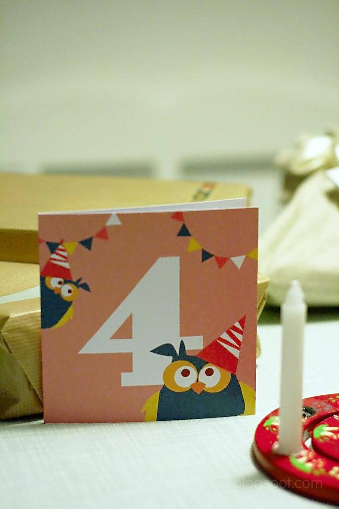 Kindergeburtstag, Geburtstag, Vier, 4, Geburtstagskarte Kinder