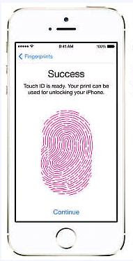 Finger print in iphone 5s - features of iphone 5s