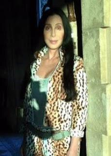 Cher in her pajamas