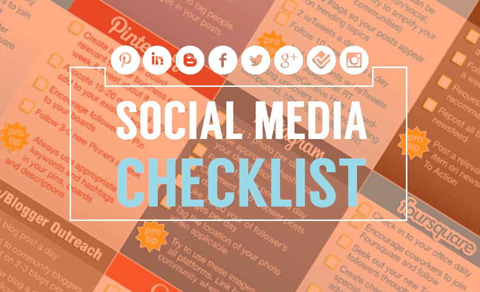 2014's Social Media Checklist for Businesses - infographic