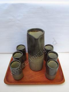Jarro Vasos Ceramica Gres Santiago Chile
