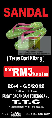 Flip Flops Sale from RM3 Terengganu
