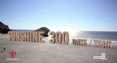 Spain has Sunshine 300 days a year -