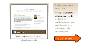 como colocar template no meu blog
