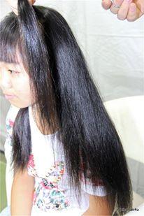 gadis anak sekolah potong rambut gundul