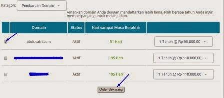 cara melakukan pembayaran domain blog